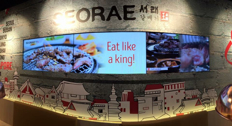 TV Display Panel for SEORAE Korean restaurant @ Plaza Singapura